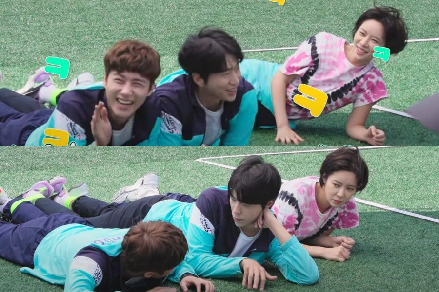 """Watch: Seo Ji Hoon, Yoon Hyun Min, And Hwang Jung Eum Get Playful And Close While Filming """"To All The Guys Who Loved Me"""""""