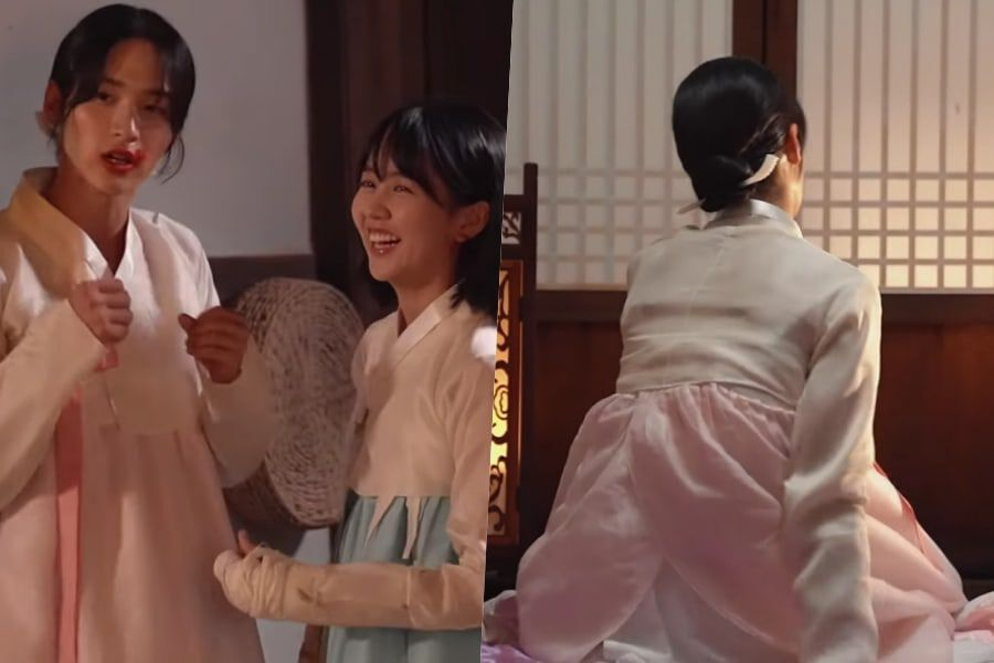 """Watch: Kim So Hyun Playfully Knocks Jang Dong Yoon Around In Rehearsals For """"The Tale Of Nokdu"""""""