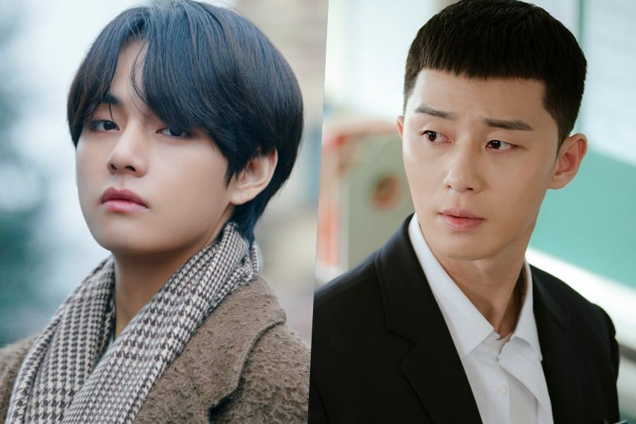 "BTS's V Visits Park Seo Joon On Set Of ""Itaewon Class"""