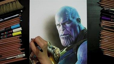 Drawing Hands Episode 89: Marvel's 'Avengers: Infinity War' Thanos Drawing