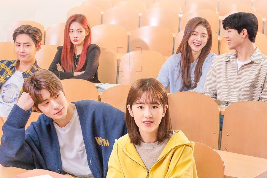 "NCT's Jaehyun, Park Hye Soo, And More Preview Heart-Fluttering Campus Romance In ""Dear.M"" Poster"