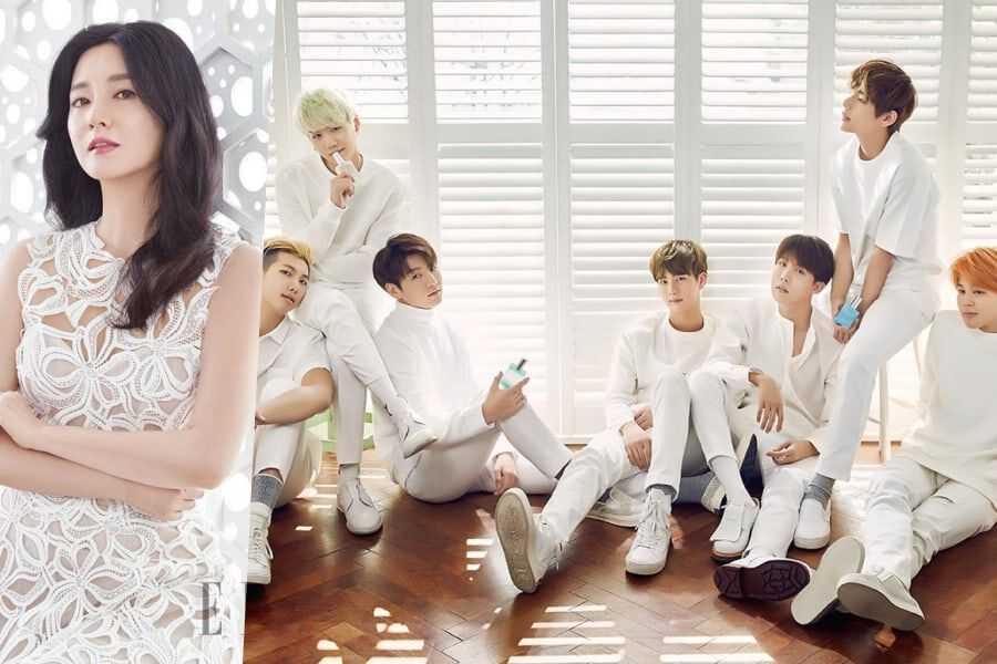 Lee Young Ae Proudly Shows Off Photo Of Her Encounter With BTS