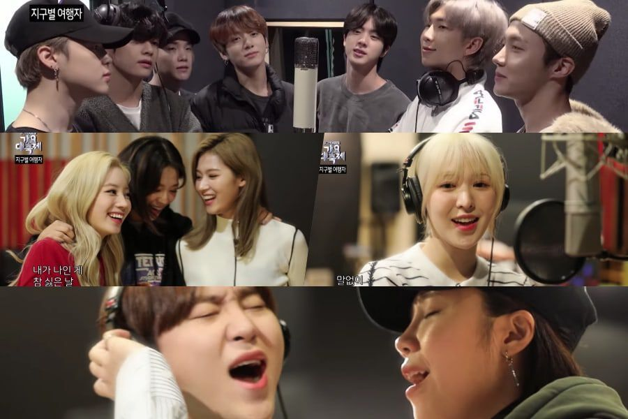 Watch Bts Twice Red Velvet Seventeen Apink And More Sing In