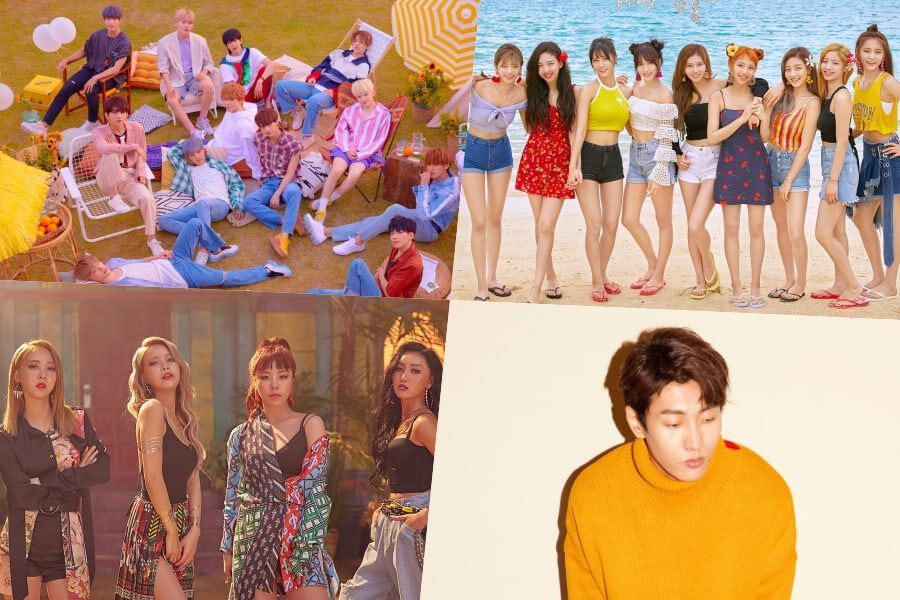 SEVENTEEN, TWICE, MAMAMOO, And Shaun Top Gaon Weekly Charts | Soompi