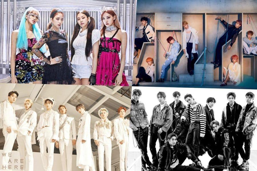 BLACKPINK, BTS, MONSTA X, EXO y más se ubican en lo más alto de la lista de álbumes mundiales de Billboard