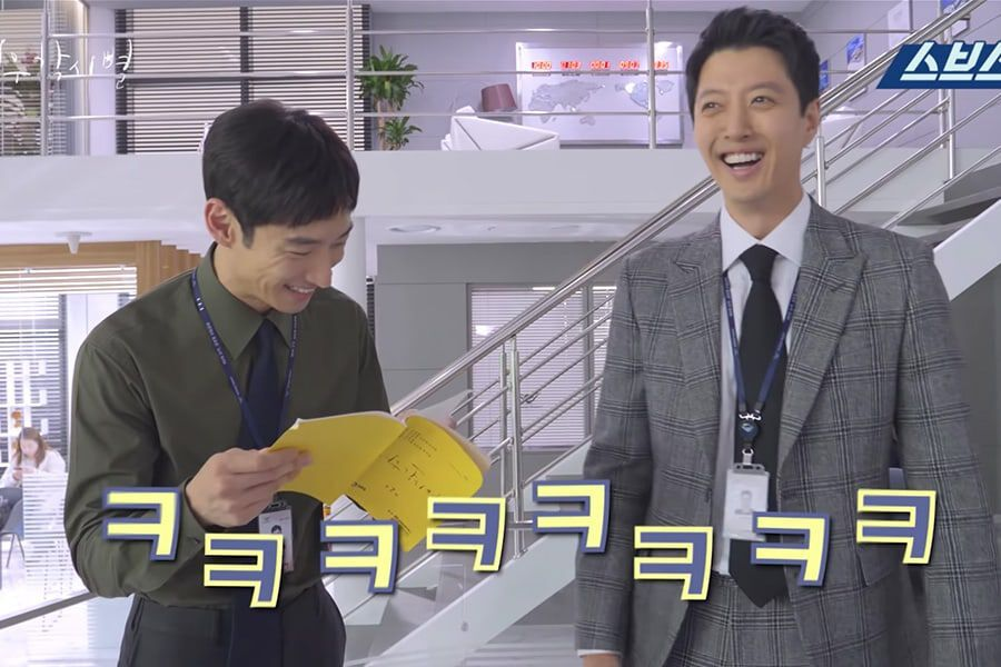 "Watch: Lee Je Hoon And Lee Dong Gun Are All Smiles In Making Video For ""Where Stars Land"""