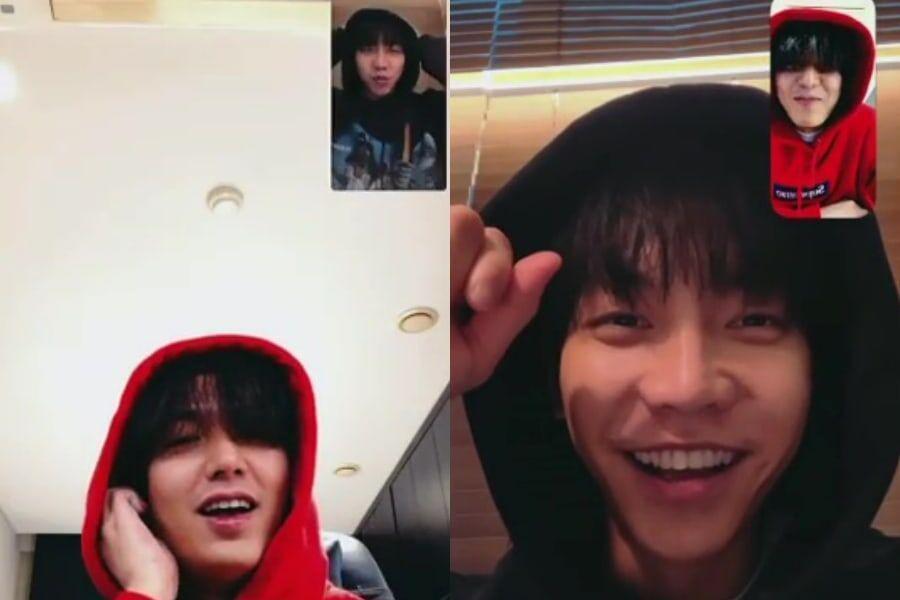 Lee Min Ho y Lee Seung Gi comparten una videollamada juntos + Dan pistas de una posible próxima colaboración en Youtube