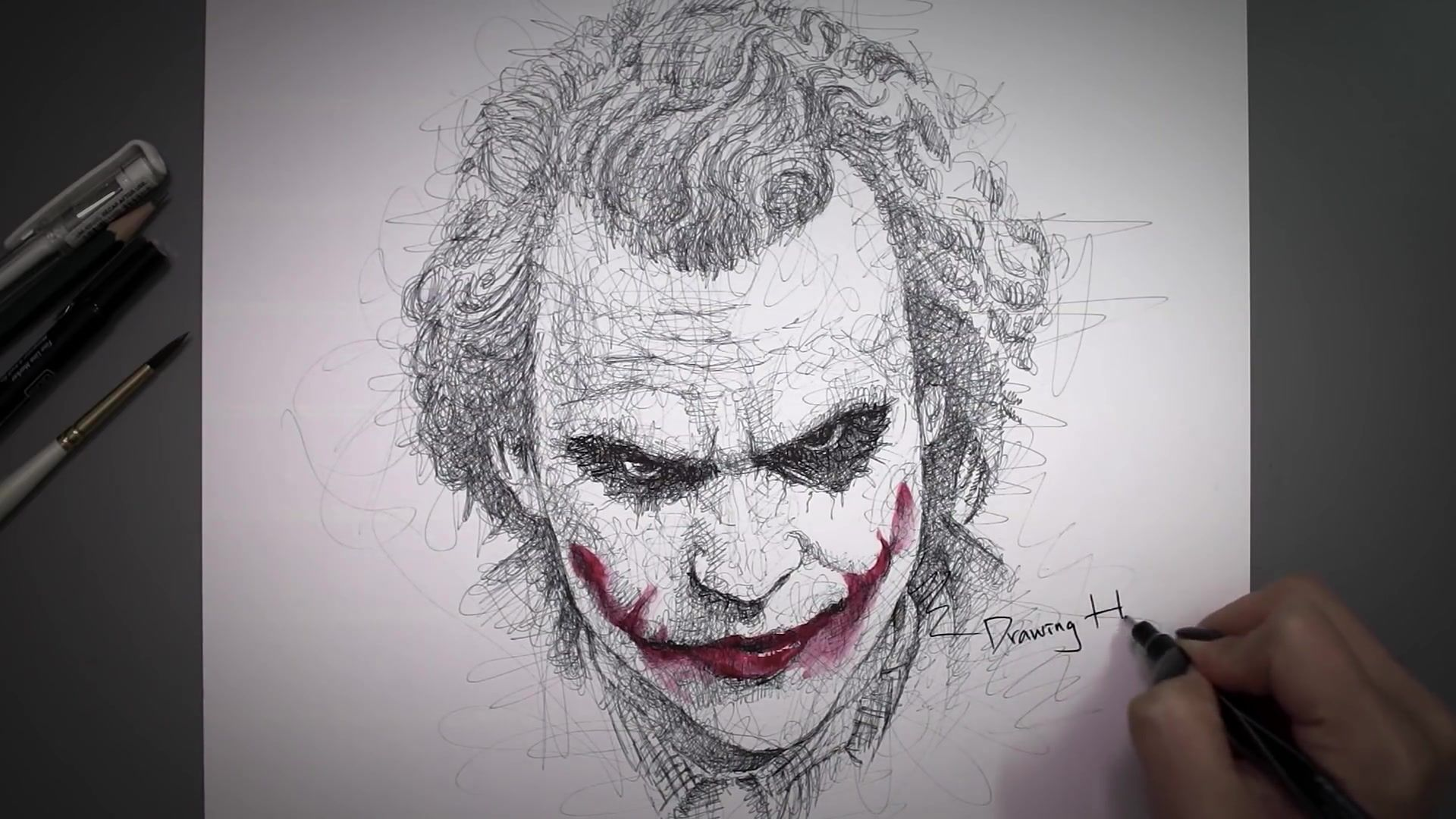 Drawing Hands Episode 67 Speed Drawing Joker From The Dark Knight