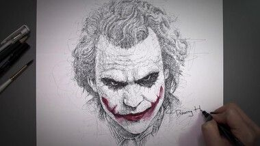 Drawing Hands Episode 67: Speed Drawing Joker From 'The Dark Knight'