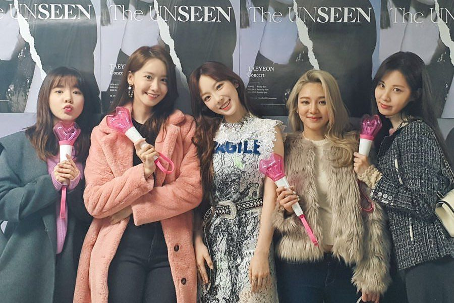 Girls' Generation Members Cheer On Taeyeon At Her Concert