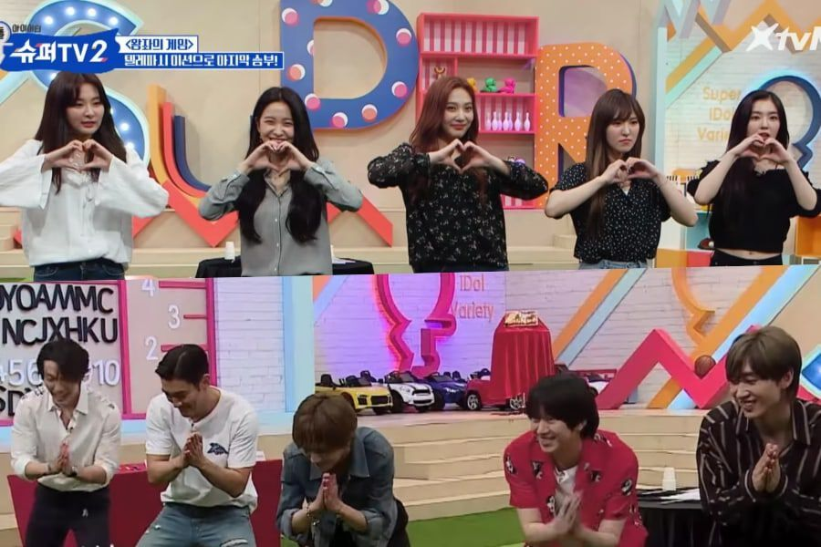 Watch: Red Velvet Goes Head-To-Head With Super Junior On