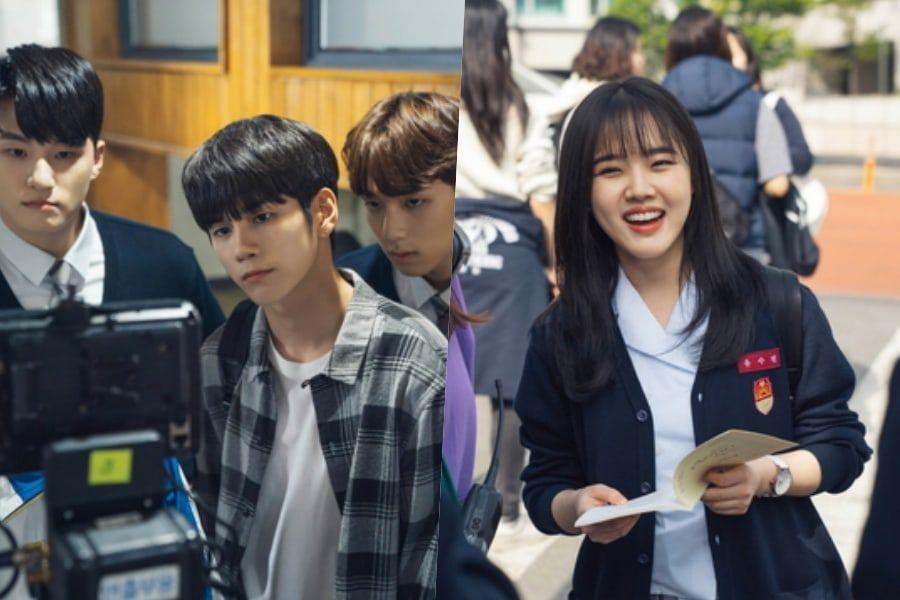 """Ong Seong Wu, Kim Hyang Gi, And Shin Seung Ho Are Hard At Work Behind The Scenes Of """"Moments Of 18"""""""