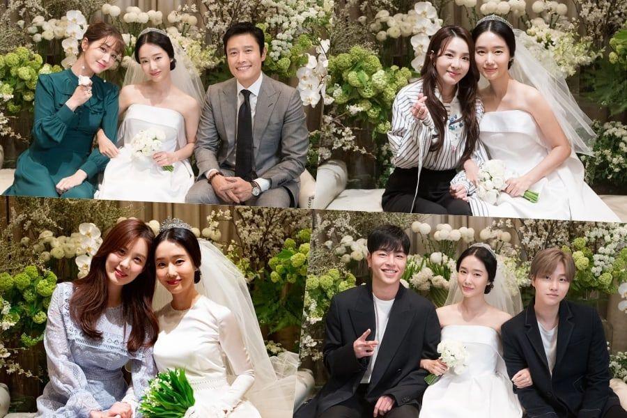 Lee Jung Hyun Reveals Photos Of Lee Byung Hun, Sandara Park, Seohyun, iKON's Junhoe And Jinhwan, And More At Her Wedding