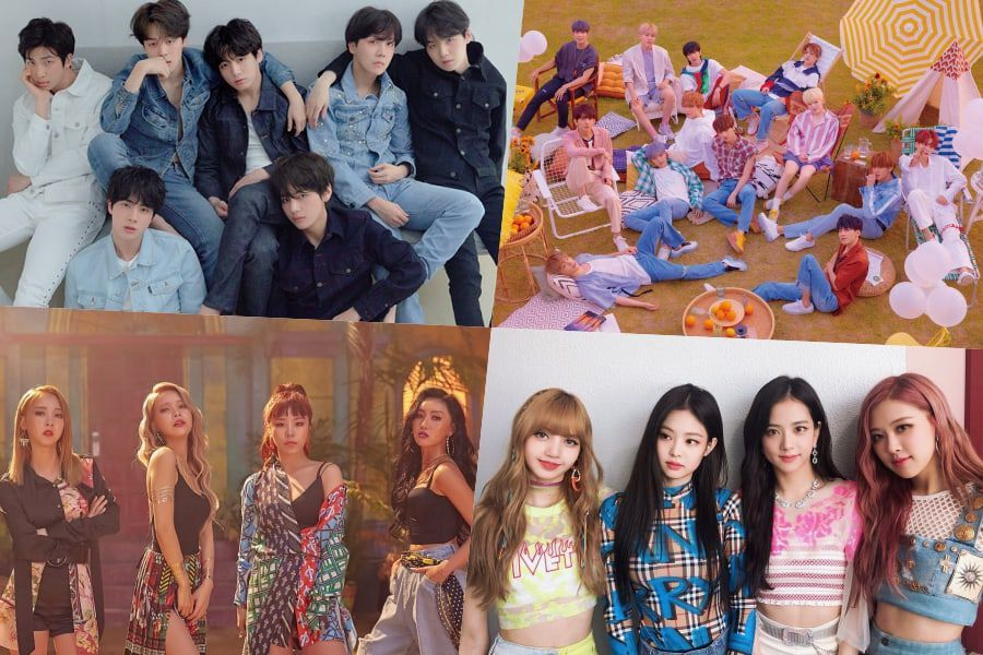 BTS, SEVENTEEN, MAMAMOO, BLACKPINK, And More Take Spots On