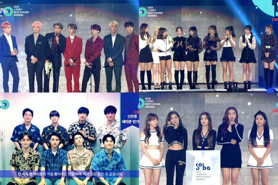 Winners Of 2018 Soribada Best K-Music Awards