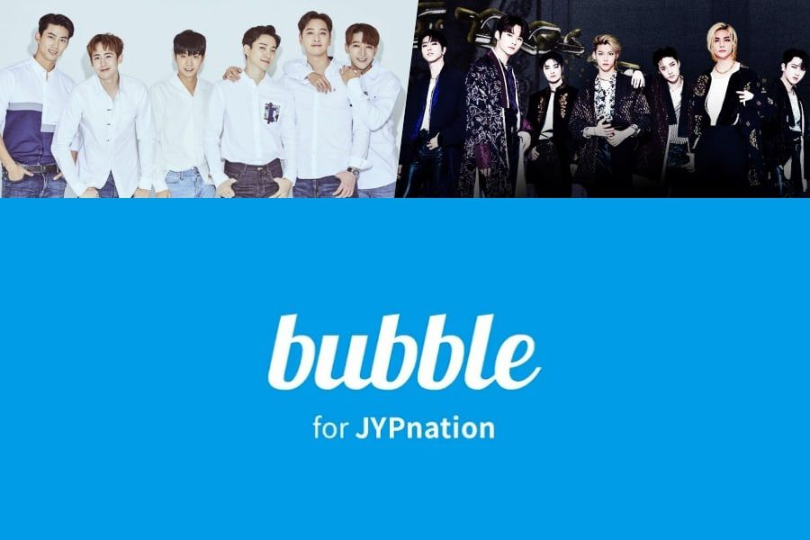 Star Messaging App bubble To Launch JYP Edition + 2PM And Stray Kids First To Join