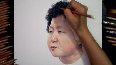 Drawing Hands Episode 113: Speed Drawing Korean Singer Hyeonmi's Separated Sister in North Korea [Drawing Hands]