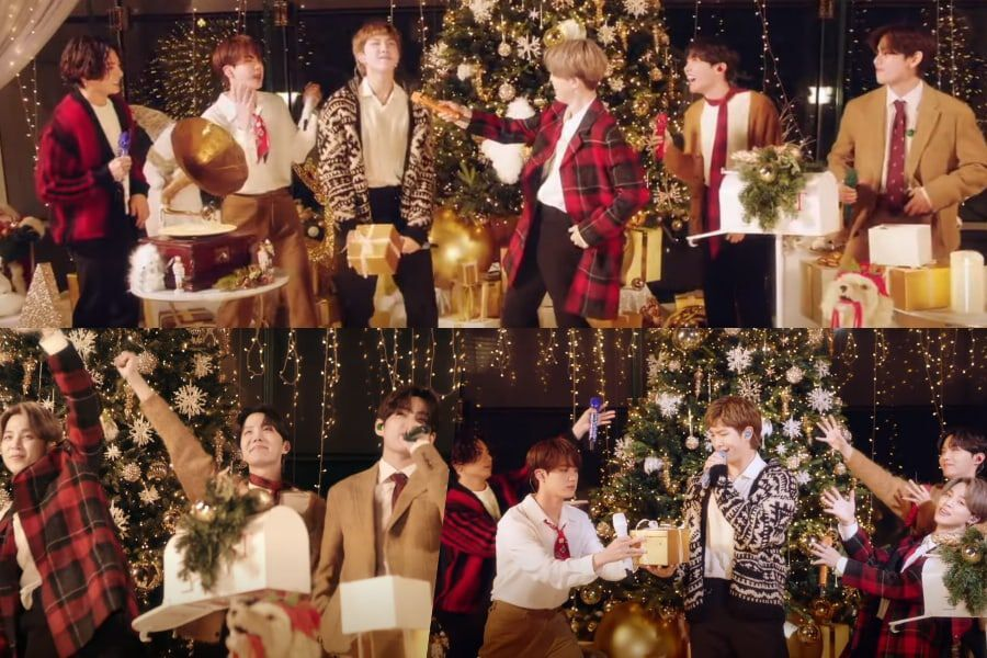 "Watch: BTS Celebrates The Holiday Season In Festive Performance On ABC's ""The Disney Holiday Singalong"""