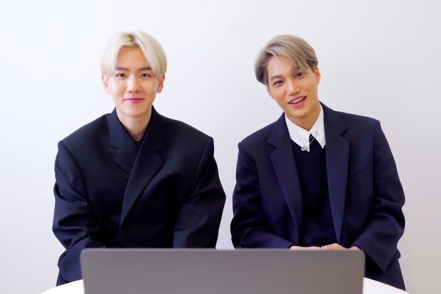 """Watch: EXO's Kai And Baekhyun React To Kai's Solo Debut """"Mmmh"""" MV"""