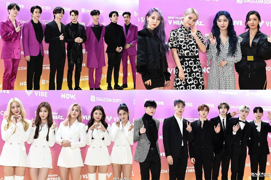 Stars Light Up The Red Carpet At The 2019 V Live Awards V HEARTBEAT