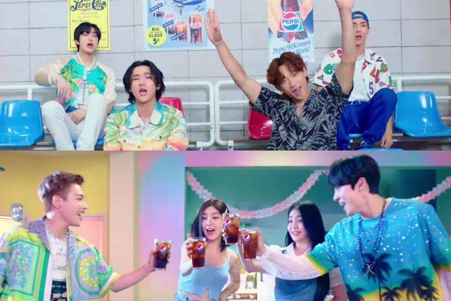 """Watch: MONSTA X, Brave Girls, ATEEZ, And Rain Team Up To Give You A """"Summer Taste"""" In New MV 