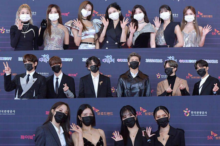 Stars Shine On Red Carpet For 2020 KBS Song Festival