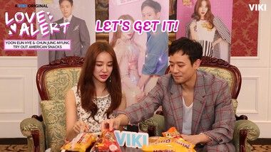 Yoon Eun Hye & Chun Jung Myung Try Out American Snacks: Love Alert