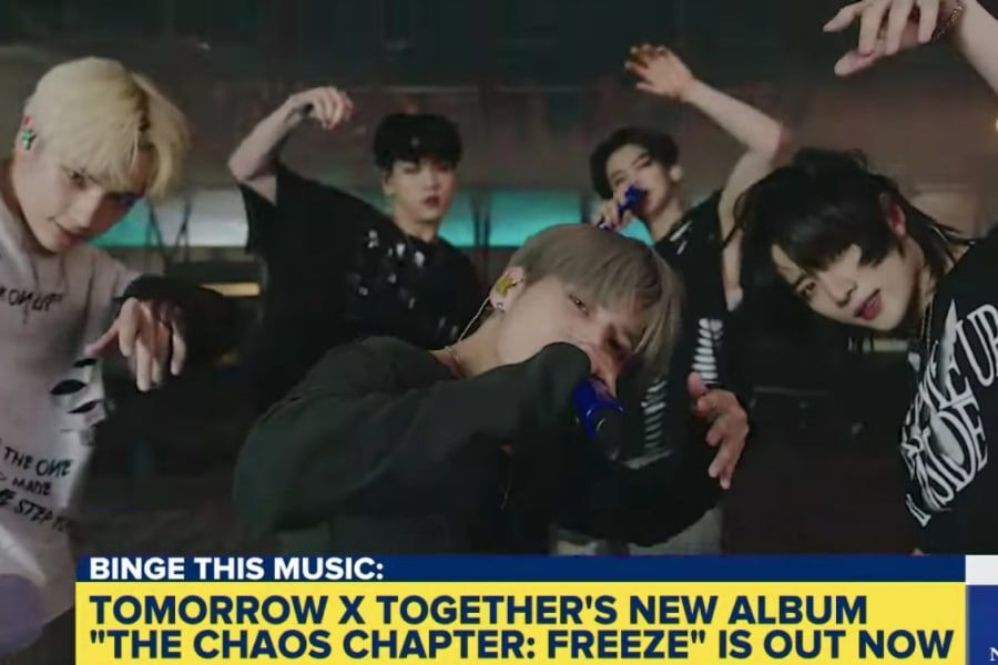 """Watch: TXT Returns To """"Good Morning America"""" For Fiery Performance Of """"0X1=LOVESONG (I Know I Love You)"""""""