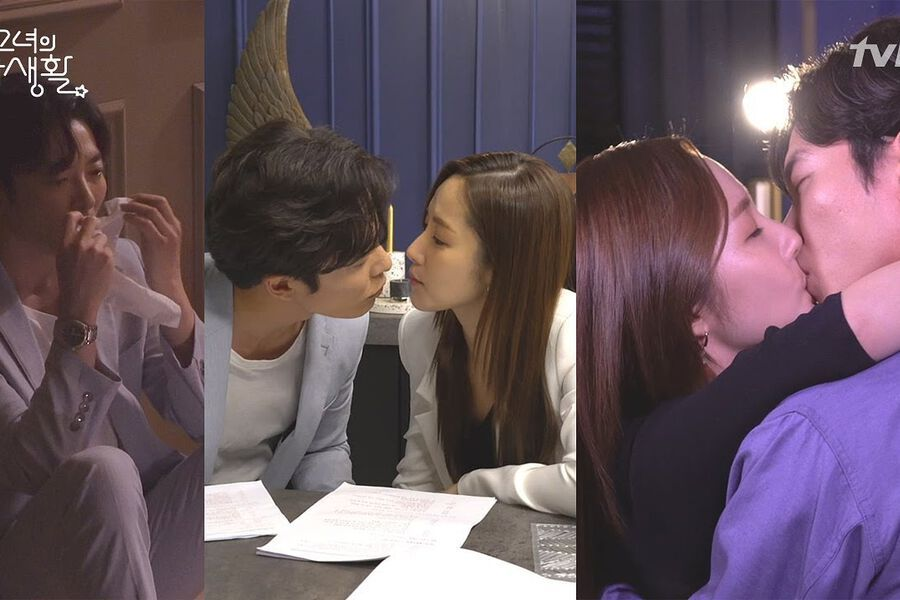 "Watch: Kim Jae Wook And Park Min Young Show Explosive Chemistry In ""Her Private Life"" Making Video"