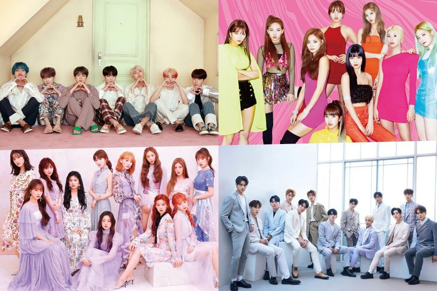 Bts Twice Iz One Seventeen And More Earn Spots On Oricon S
