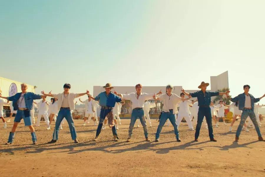 """BTS hace alarde de sus movimientos en un enérgico MV para """"Permission To Dance"""""""