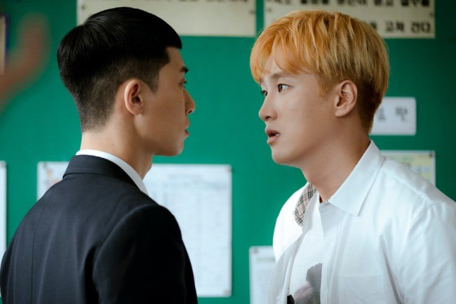 "Park Seo Joon And Ahn Bo Hyun Share An Ill-Fated First Encounter In ""Itaewon Class"""