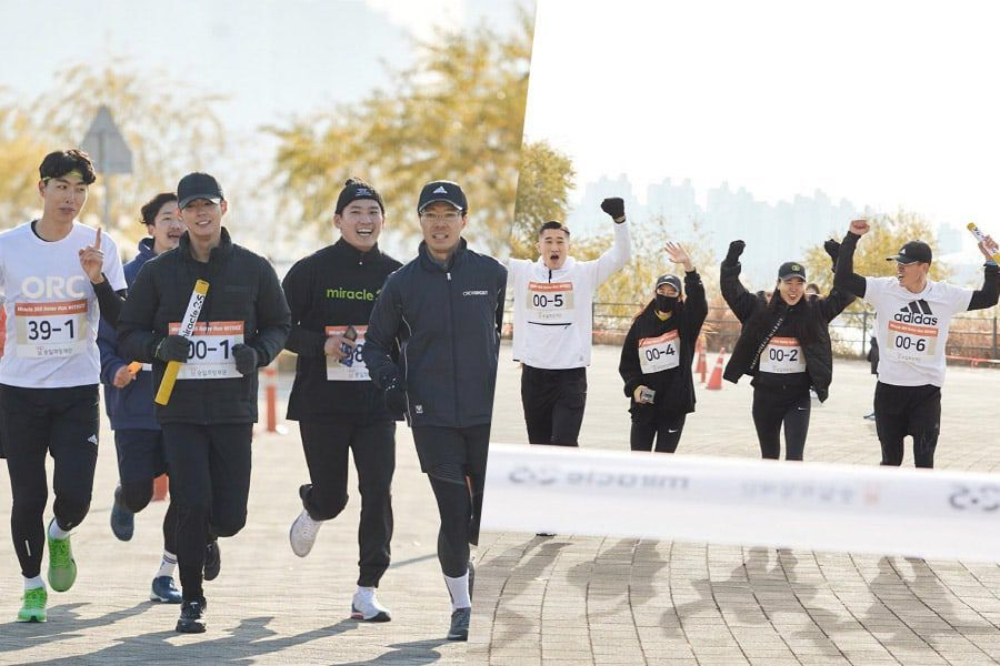 Park Bo Gum, Sean, Sung Hoon, And More Participate In Relay Race For ALS
