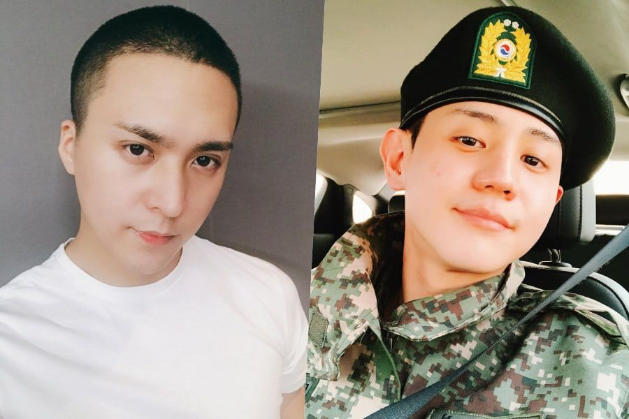 Highlight's Son Dongwoon Receives Award For Being Top Soldier During Training + Yang Yoseob Attends Ceremony