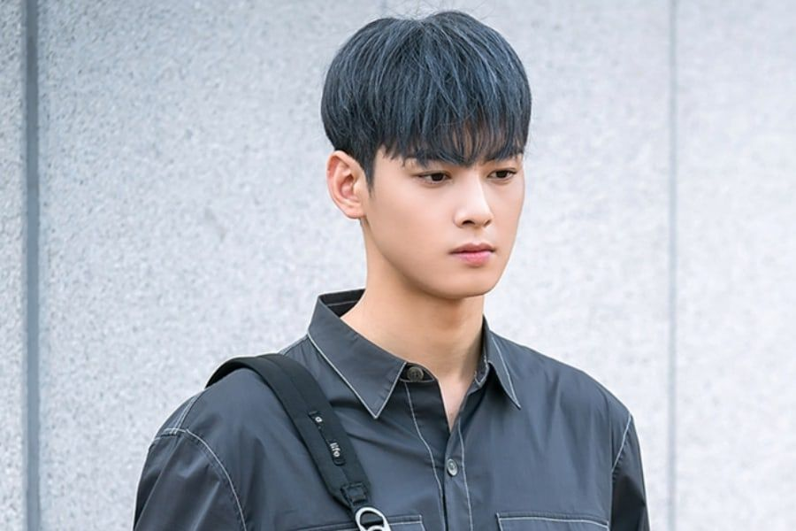 "ASTRO's Cha Eun Woo Dyes His Hair Gray For ""My ID Is Gangnam Beauty"""