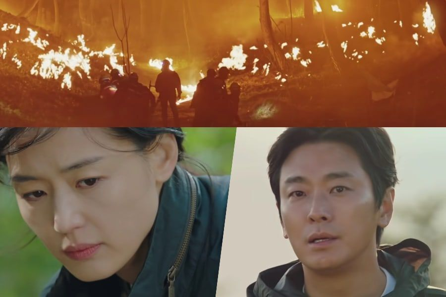 """Watch: Jun Ji Hyun, Joo Ji Hoon, And More Struggle To Protect The People Who Climb The Mountain In """"Jirisan"""" Teaser"""