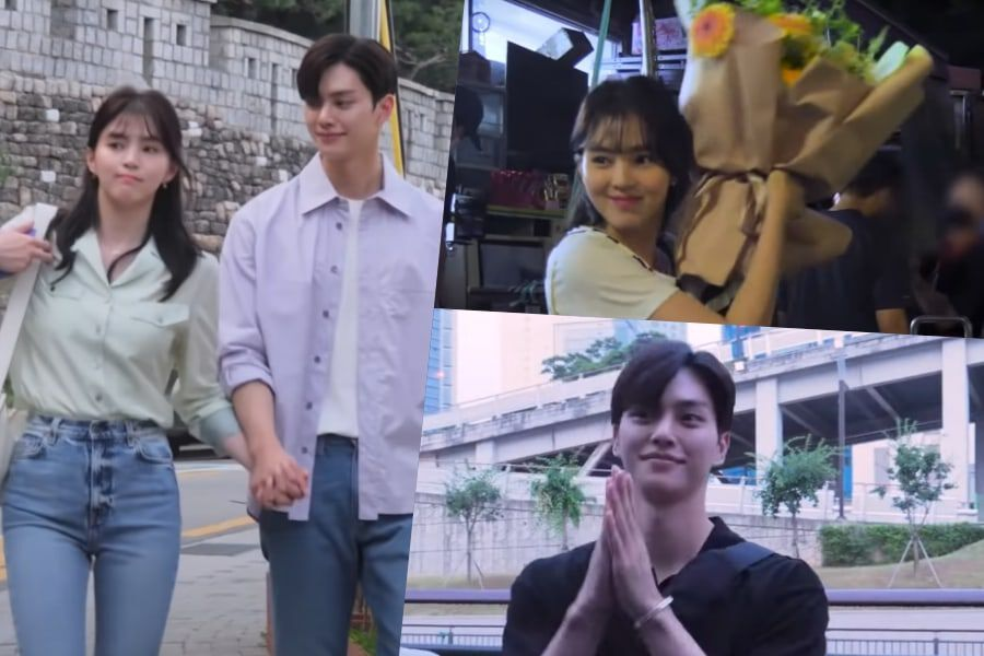 """Watch: Han So Hee And Song Kang Remain Cheerful And Energetic On Final Day Of Filming """"Nevertheless"""""""