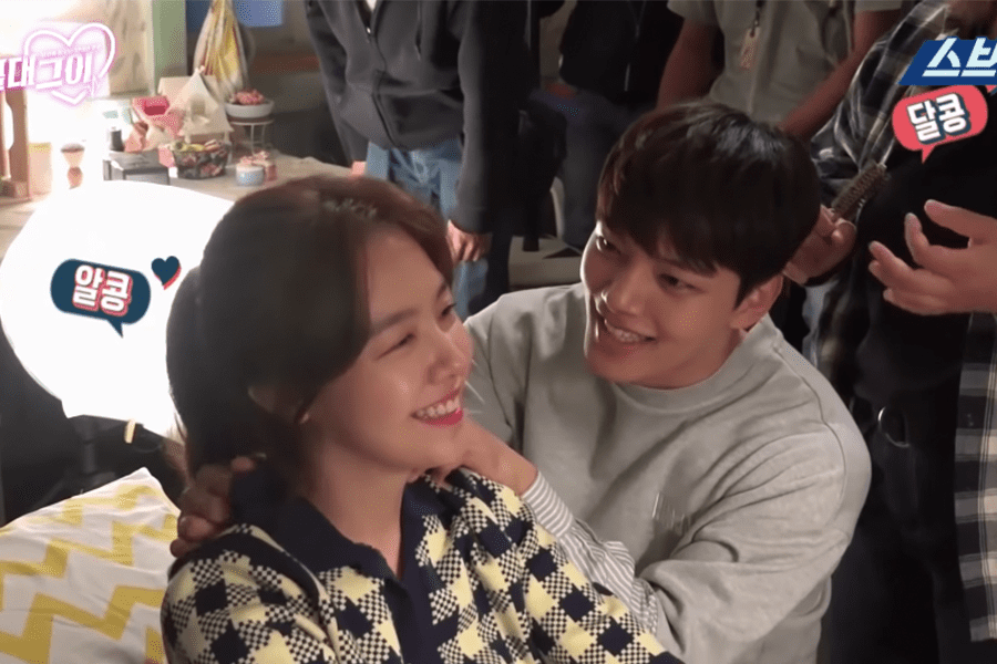 "Watch: Minah And Yeo Jin Goo Adorably Goof Off In Making Video For ""Absolute Boyfriend"""