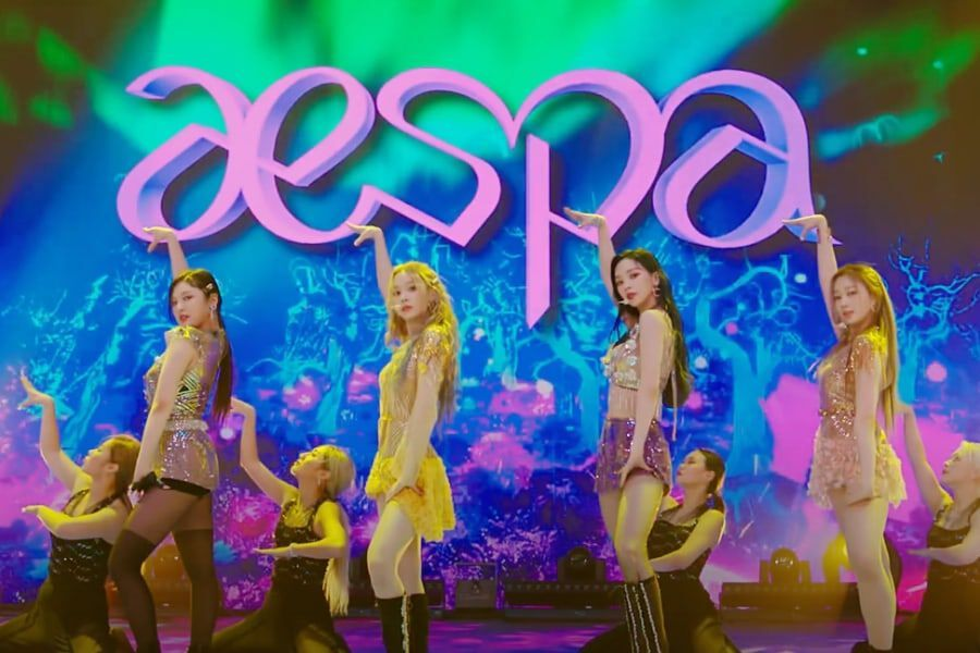 "Watch: aespa Reveals First-Ever Performance Of Debut Track ""Black Mamba"""