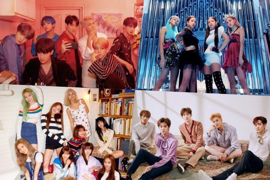BTS, BLACKPINK, TWICE, NU'EST y más se ubican en altas posiciones en la lista de álbumes mundiales de Billboard