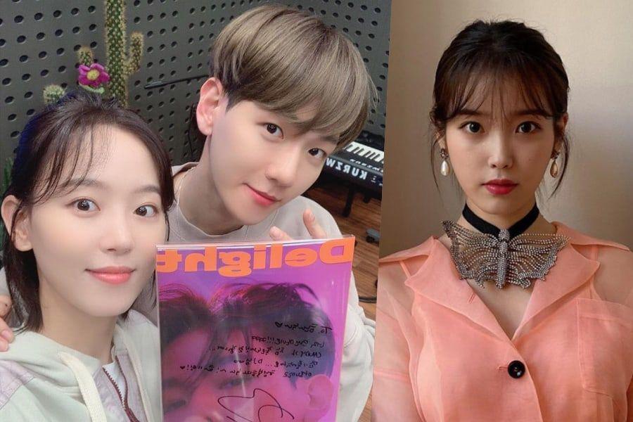 """Kang Han Na y Baekhyun de EXO hacen juntos el """"Candy Challenge"""" + IU reacciona"""
