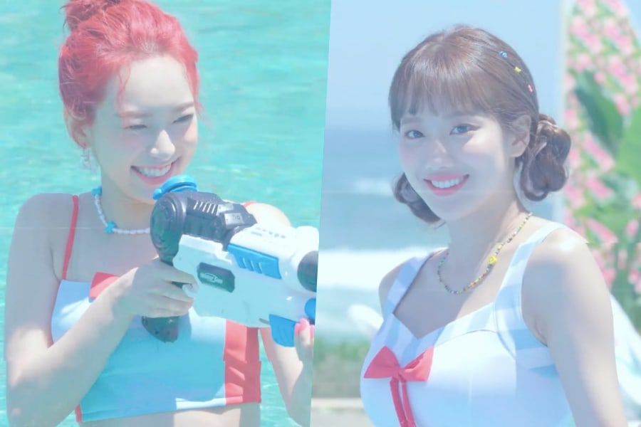 Update: APRIL's Yena And Naeun Have Fun At The Pool And More In Comeback Teaser Videos