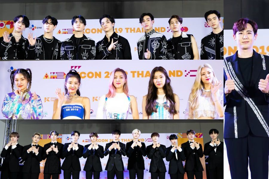 Idols Light Up The Red Carpet At KCON 2019 Thailand Day 1