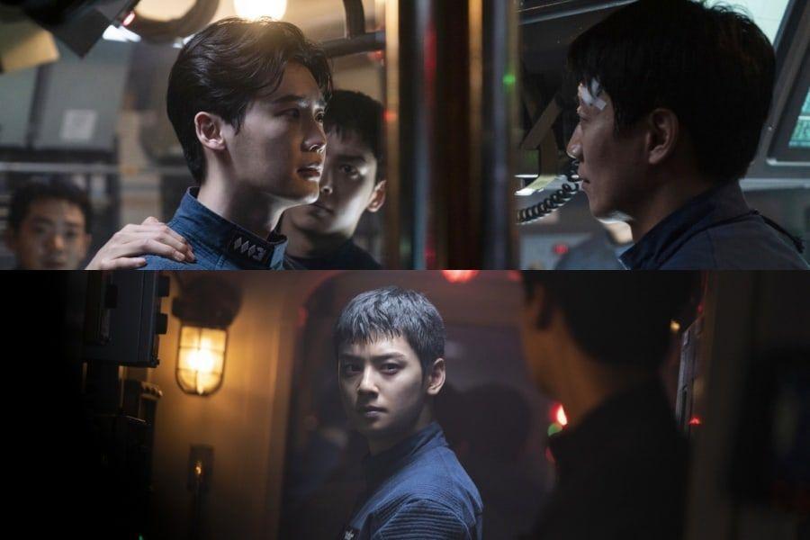 "Lee Jong Suk, Kim Rae Won, And ASTRO's Cha Eun Woo Are Navy Sailors Facing A Terrorism Threat In New Movie ""Decibel"""