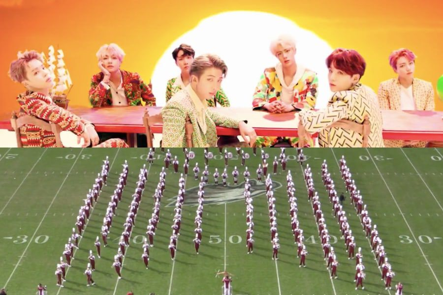 """Watch: Temple University Marching Band Plays Epic Arrangement Of BTS's """"IDOL"""""""