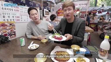 Korean Bros Episode 7: Best Korean Street Food at Gwangjang Traditional Market [Korean Bros]