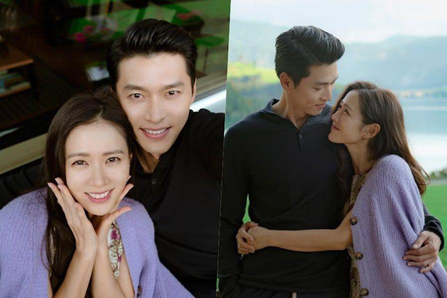 """""""Crash Landing On You"""" Shares Sweet Behind-The-Scenes Couple Shots Of Hyun Bin And Son Ye Jin"""