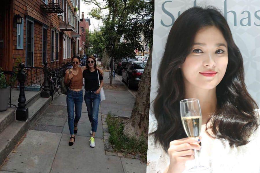 Lee Hyori Hangs Out In New York With Fellow Fin.K.L Member Lee Jin; Song Hye Kyo Shows Love