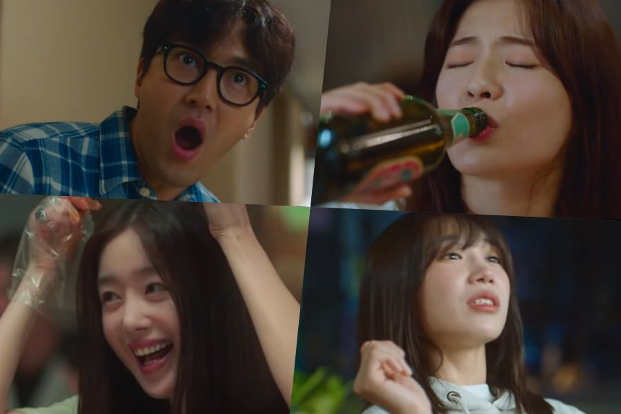 Watch: Choi Siwon Is Shocked By How Much Lee Sun Bin, Jung Eun Ji, And Han Sun Hwa Can Drink In Teaser For New Drama
