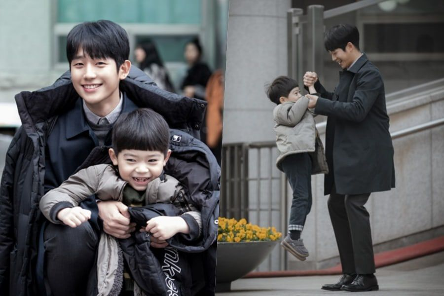 "Jung Hae In And Ha Yi Ahn Share Adorably Sweet Moments Behind The Scenes Of ""One Spring Night"""
